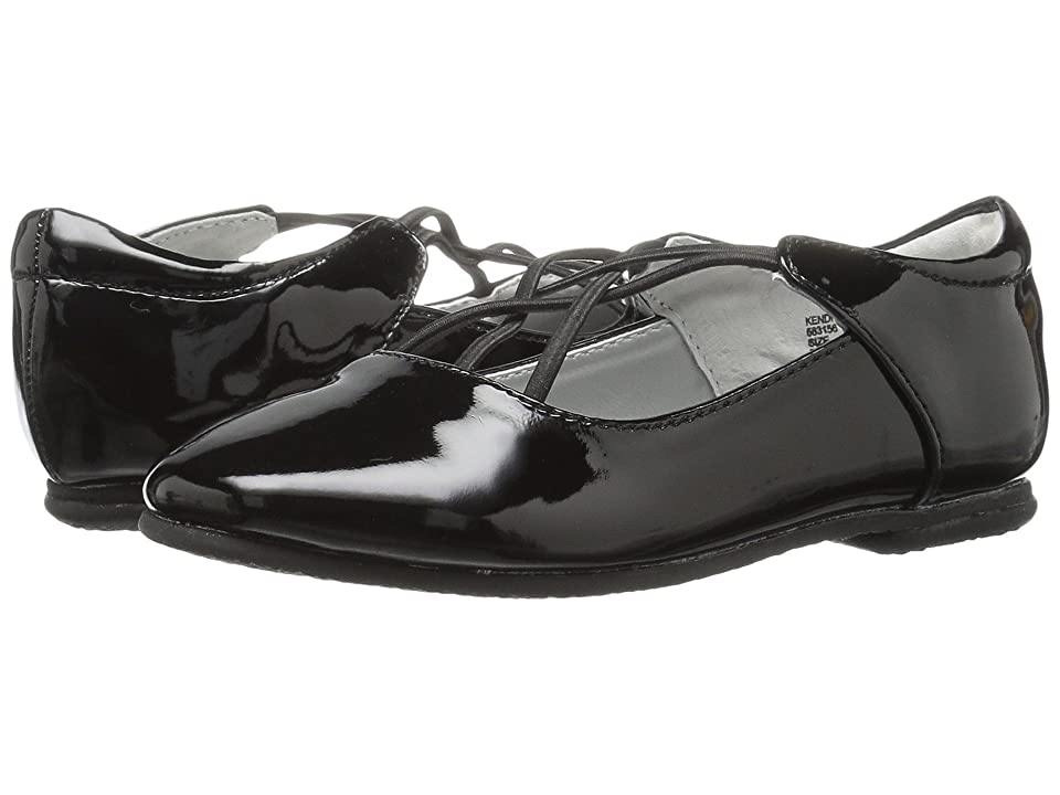 Jumping Jacks Kids Balleto Kendra (Toddler/Little Kid/Big Kid) (Black Shiny) Girls Shoes