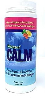NATURAL VITALITY Raspberry Lemon Natural Calm Magnesium Citrate Powder, 8 OZ