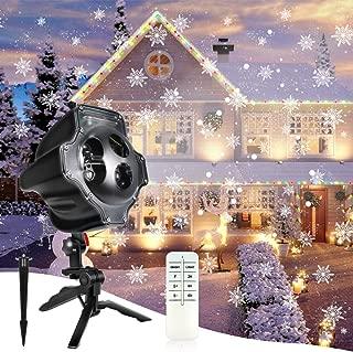 snowflake christmas lights led