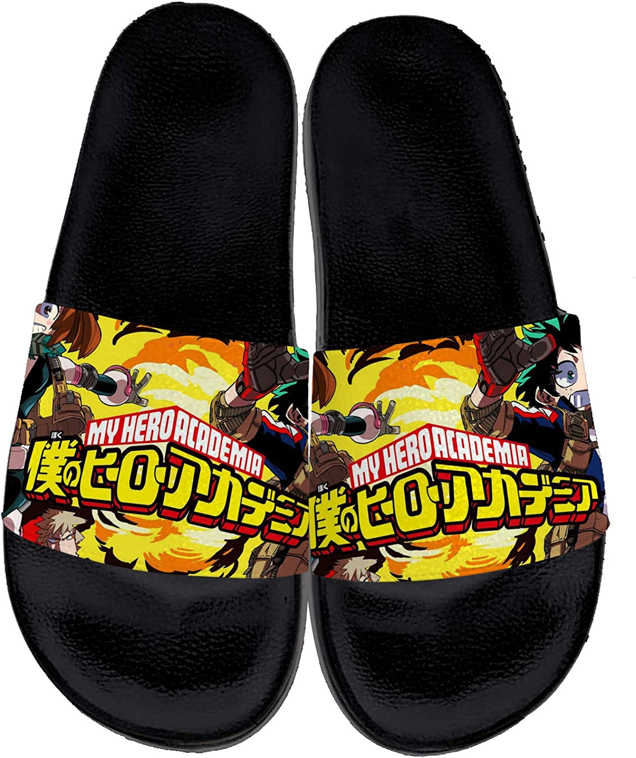 Uminder My Hero Academia Sandals for Max 80% OFF Men Print Co 3D Mail order cheap Ultra Women