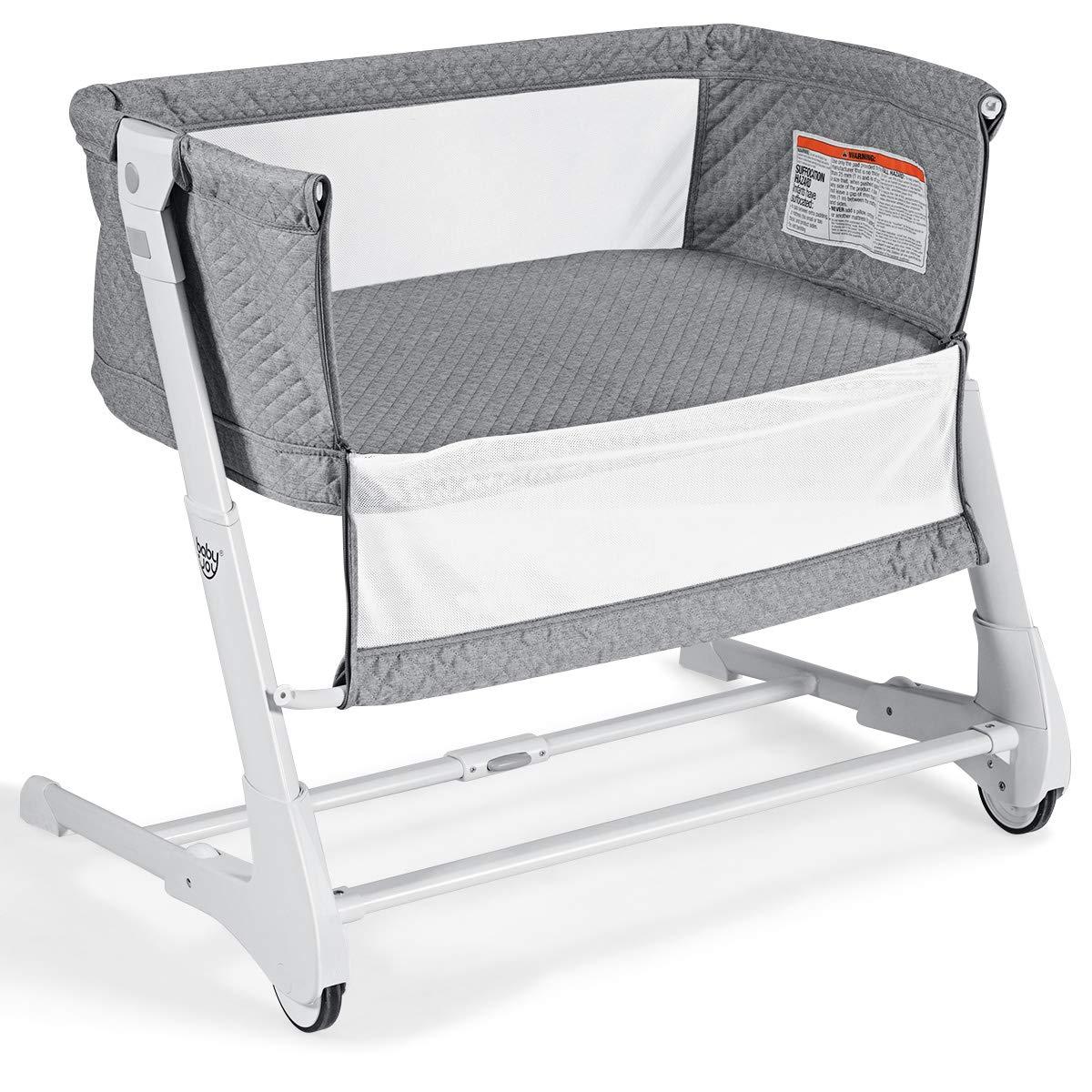 Baby Adjustable Bassinet Detachable Breathable