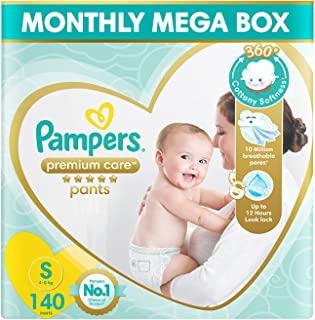Pampers Premium Care Pants Diapers, Small (140 Count)