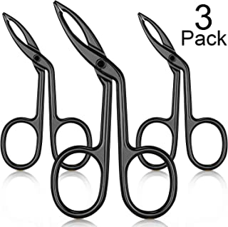 3 Packs Eyebrow Tweezers, Scissors Shaped Eyebrow Straight Tip Tweezers Clip, Flat Tip Tweezers Hair Plucker, Straight Tip Hairgripping Eyebrow (Black Plated)