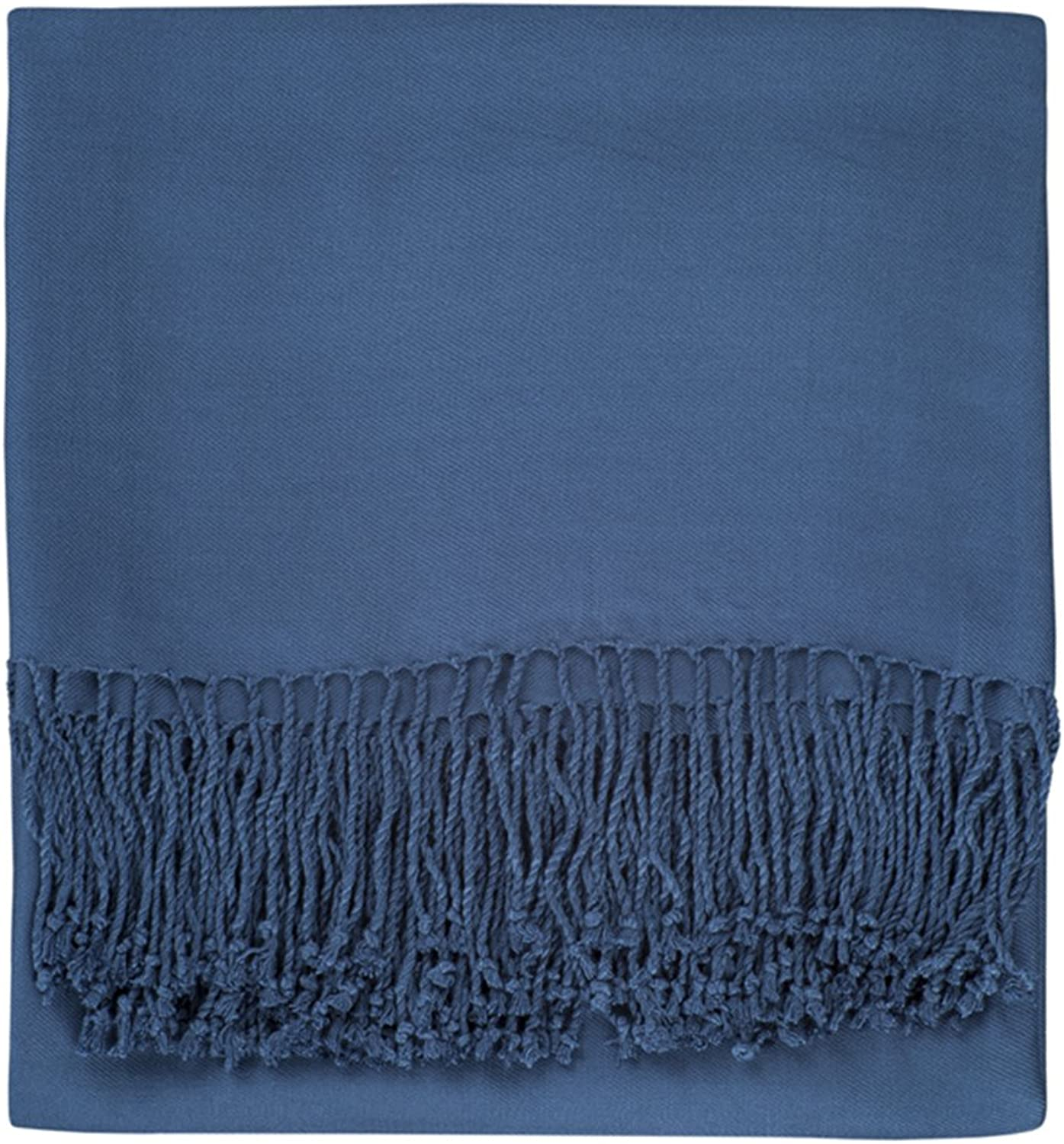 Nine Space Viscose from Bamboo Solid Throw Blanket, Midnight bluee, 50  x 70