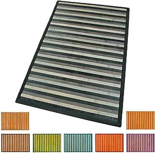 EMMEVI Estera de bambú de madera Mat Cocina Baño Dormitorio Gradiente Varios para 30x43 cm Negro