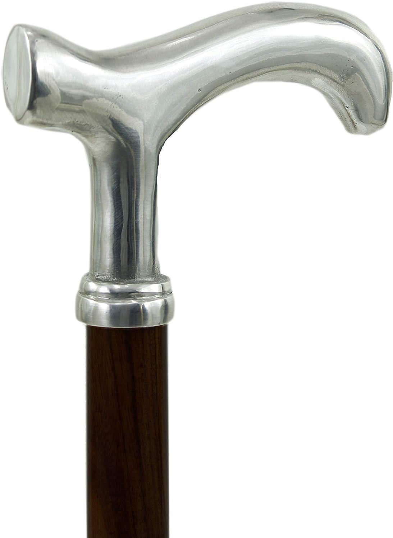 Cavagnini - Bastón de paseo elegante para ceremonia de madera para ancianos, mujer y hombre, longitud adaptable (Derby, marrón)