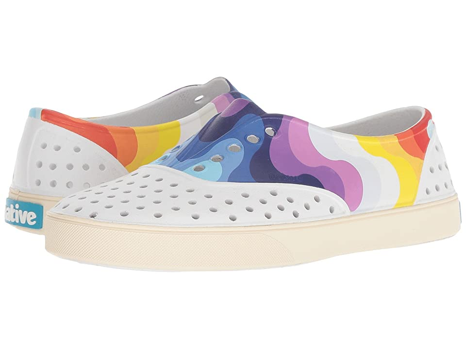 Native Shoes Miller (Shell White/Bone White/Rainbow Wave) Slip on Shoes