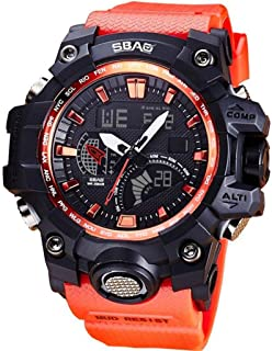 Multifunctional Stylish Healthy Lifestyle Sports Watches,Y56 SBAO S-8005-H Mens Teenagers Boys Digital Outdoor Sports Waterproof Multifunctional Creative Electronic Watches with LED Digital Stopwatch