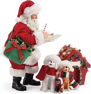 Department 56 Possible Dreams Santa and His Pets Carolers Figurine Set, 10 Inch, Multicolor