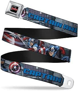 Men's Seatbelt Belt Captain America Wca013