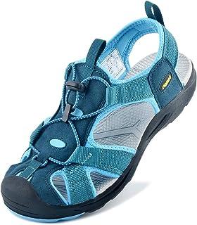 Sandalias de Senderismo para Mjuer, Sandalias Deportivas de Verano al Aire Libre Antideslizantes Zapatos Trekking Casuales, para Caminar, Playa, Viajar, Deportes de Agua
