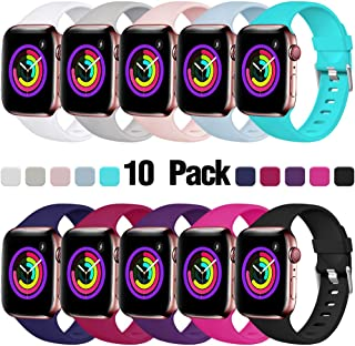 Haveda Sport Bands Compatible with Apple Watch 40mm 44mm 38mm 42mm, Waterproof Replacement Wristband for iWatch, Apple Watch Series 4, Series 3, Series 2, Series 1 Women Man Kids Multi Colors