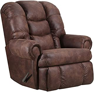 Lane Stallion Big Man Comfort King Wallsaver Recliner in Dorado Walnut. Rated for Up to 500 Lbs. Extended Length. 79