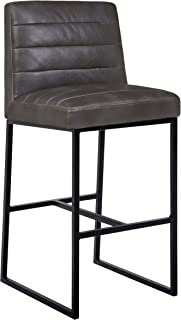 Rivet Decatur Modern Kitchen Counter Barstool with Back, 41