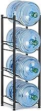 رف تخزين زجاجة المياه سعة 5 جالون من ليانترال لتخزين زجاجات المياه، 4 طبقات، أسود