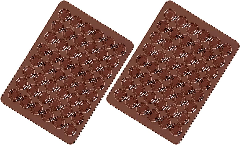 Xinlie Tapete para Horno Silicona Juego molde para Hornear Capacity Juego Molde para Hornear Macarons de Silicona con Decoración Juego de Bolígrafo Mantequilla Exprimidor Baking Tool Kit de Molde 2PCS