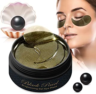 Puriderma Under Eye Pads, Collagen Eye Mask, Black Pearl Eye Treatment Patches, 60pcs, Relief Puffy Eye, Dark Circle, Anti Wrinkles, Anti Aging, Hydrating and Lightening skin