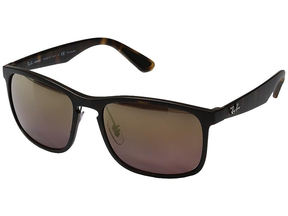 Ray-Ban 0RB4264 Polarized 58mm (Havana/Purple Mirror) Fashion Sunglasses