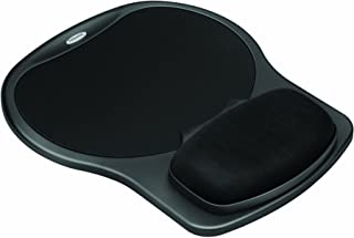 FELLOWES Manufacturing 93730 Easy Glide Gel Mouse Pad w/Wrist Rest, 10 x 12, Black/Black