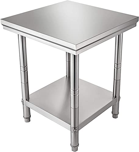 discount Mophorn Stainless Steel Work Table 24 x 24 x 34 high quality Inch Commercial Food Prep Worktable Heavy Duty Prep Worktable Metal Work Table with Adjustable Feet new arrival for Restaurant, Home and Hotel online sale