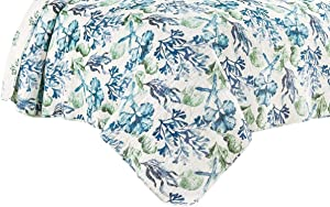 C&F Home 82466 Bluewater Bay Mini Set Queen or Full Size Quilt 90 Inches X 92 Inches and 2 Standard Shams
