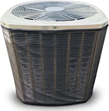 Custom All Season Mesh Air Conditioner Cover or Heat Pump Cover - for Your Exact Make and Model- Protection from Leaves, Debris, Cottonwood, Grass Clippings and More.3-Year Warranty Black