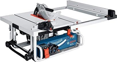 Bosch Professional Sierra circular de mesa GTS 10J, tope angular, tope paralelo, adaptador de extracción, hoja de sierra, barra de empuje, cartón, hoja de sierra de diámetro: 254 mm, Dimensiones de la mesa: 642x 572mm, 1800W, 0601b30500.