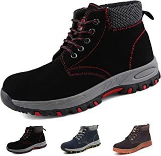 Zapatos de Seguridad Hombres Mujer Zapatos de Trabajo con Punta de Acero,Zapatillas Deportivas Ligeras Comodas Industriale...