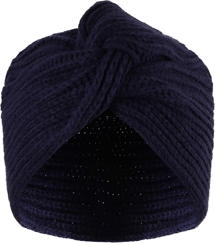 VIJIV Knit Slouchy Turban Beanie Hat Winter Crochet Head Wraps Hair Scarf Cap Baggy for Women Girls