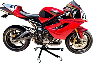 SV Racing Parts Universal Motorcycle Stand with Pin Kit Specific to Triumph 675 Street Triple Models 2006-2017 and Triumph Daytona 675 Models 2006-2017 Black Custom Paddock Style Hydraulic Side Lift