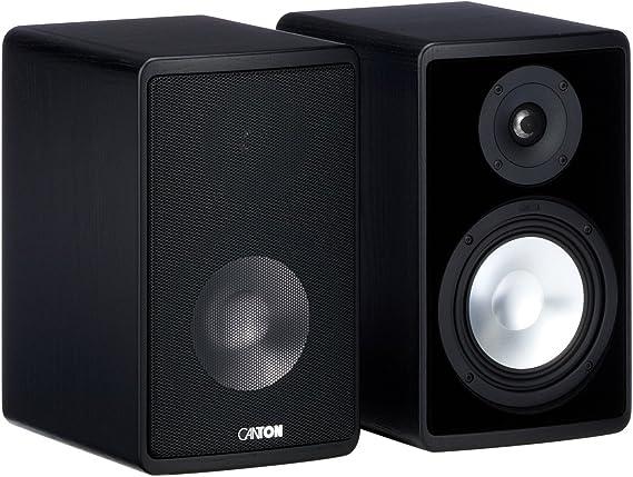 Canton Ergo 620 2 Wege Bassreflex Regallautsprecher 70 130 Watt Schwarz Paar Audio Hifi