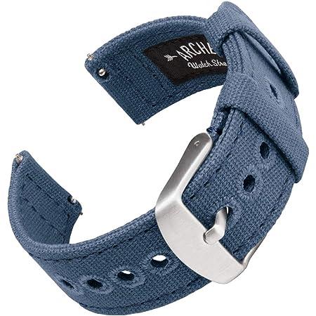 Archer Watch Straps - Bracelet de Montre en Toile pour Homme et Femme - Bracelet de Rechange Canvas - Couleurs Multiples - 18mm, 20mm, 22mm