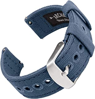 Archer Watch Straps - Canvas Quick Release Replacement Watch Bands | Multiple Colors, 18mm, 20mm, 22mm