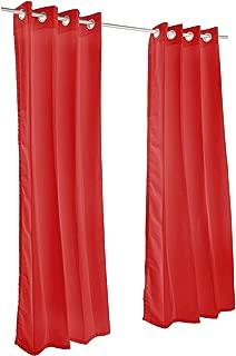 Pawleys Island Sunbrella Curtain - Canvas Jockey Red 120 Inches