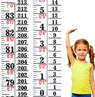 1 Piece Growth Chart Height Indicator Tape Ruler Height Growth Chart Ruler Height Indicator Adhesive Ruler for Measuring Kids Boys Girls