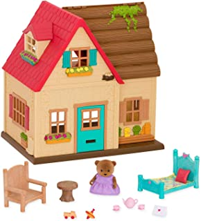 Li'l Woodzeez Animal Figurine Playset and Accessories - Countryside Cottage - 18 Pieces