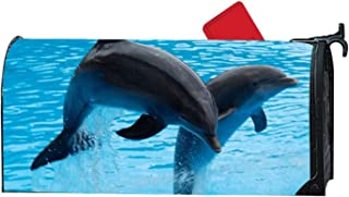 KSLIDS Unique Mailbox Makeover Twin Dolphin Mailbox Makover Cover Outdoor,Home,Yard Magnetic