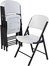 Lifetime 42804 Commercial Grade Folding Chair, 4 Pack, White Granite