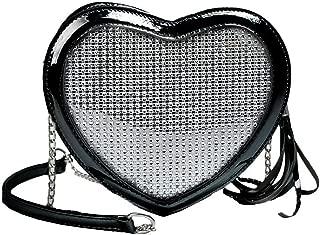 Wultia - Fashion Simple Small Love Heart Bag Women's Designer Handbag High-Quality PU Leather Tassel Chain Shoulder Bags #G8 Black