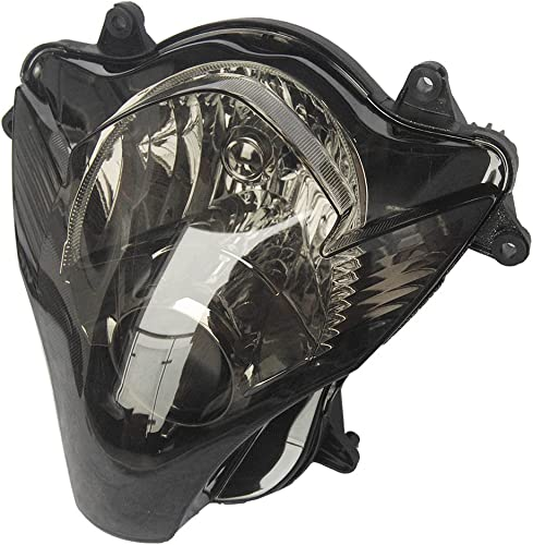 2021 Mallofusa Motorcycle Front Headlight Headlamp Assembly online sale Compatible for Suzuki GSXR600 GSXR750 2006 2007 Smoke outlet sale Lens outlet online sale