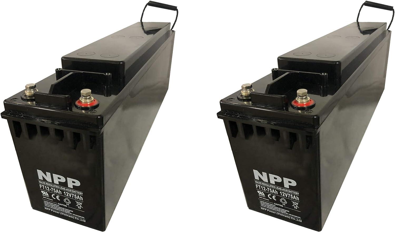 NPP FT12-75Ah 12V 75Ah Front Access Large-scale sale Cycle Deep SLA Rechargea AGM Award