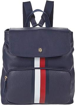 Ella  Pebble PVC Flap Backpack