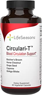 LifeSeasons - Circulari-T - Natural Blood Circulation Supplement - Aids Leg and Hand Veins Health and Restless Legs - Butc...