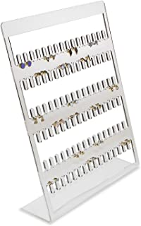 SOURCEONE.ORG Source One Deluxe Acrylic Earring and Necklace Organizer Holds 48 Sets of Earrings