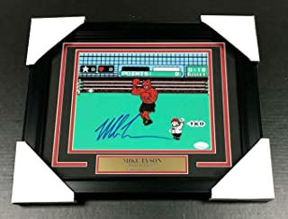 IRON MIKE TYSON AUTHENTIC SIGNED AUTOGRAPHED 8X10 PHOTO FRAMED PUNCH-OUT JSA COA