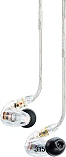 Shure SE315-CL Sound Isolating Earphone Hi-Definition Micro Speaker with Tuned Bass Port Clear