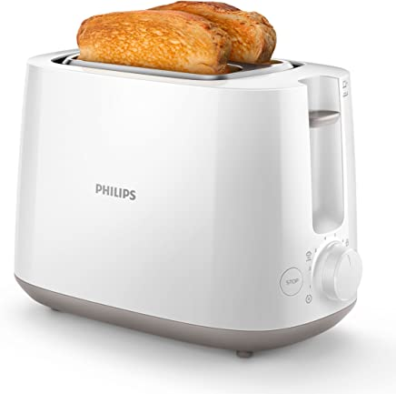 Philips Daily HD2581/00 -Tostador 830 W, Doble Ranura, Color Blanco