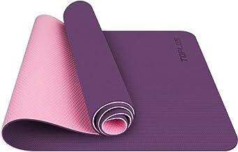 TOPLUS gymnastiekmat, yogamat, bekleed & antislip voor fitness pilates & gymnastiek met draagriem - afmetingen 183 cm leng...