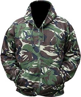 Kombat UK Men's Camo Hoodie Full Zip