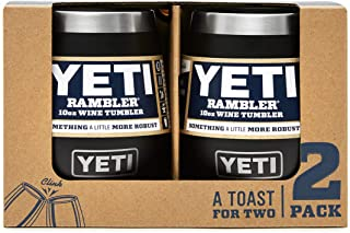 YETI Rambler 10 oz Stainless Steel Vacuum Insulated Wine Tumbler, 2 Pack